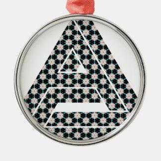Impossible Floral Shuriken Metal Ornament