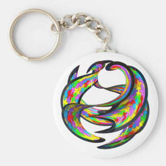 Impossible Geometry Basic Round Button Keychain