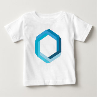 Impossible geometry: Blue hexagon. Baby T-Shirt
