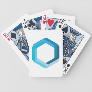 Impossible geometry: Blue hexagon. Bicycle Playing Cards