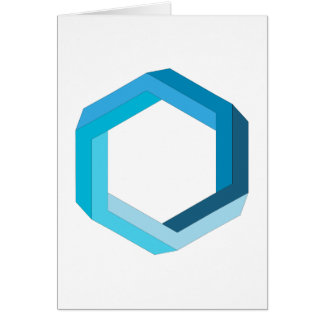 Impossible geometry: Blue hexagon. Card