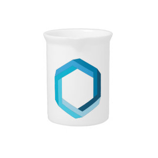 Impossible geometry: Blue hexagon. Drink Pitcher