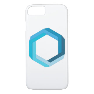 Impossible geometry: Blue hexagon. iPhone 8/7 Case