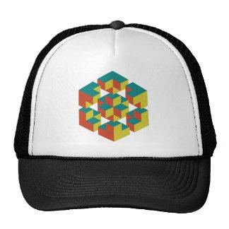 Impossible geometry trucker hat