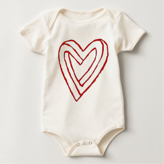 Impossible Heart Optical Illusion Baby Bodysuit