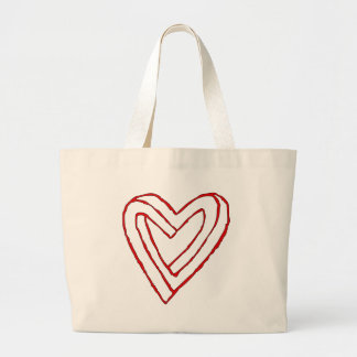 Impossible Heart Optical Illusion Bags
