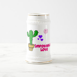 Impossible Love Cactus & Balloon Beer Stein