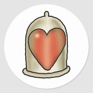 Impossible Love - Love Condom Classic Round Sticker