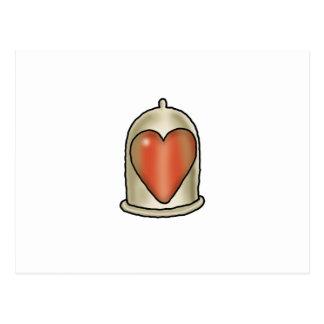 Impossible Love - Love Condom Postcard