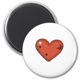 Impossible Love - Love Worm 2 Inch Round Magnet