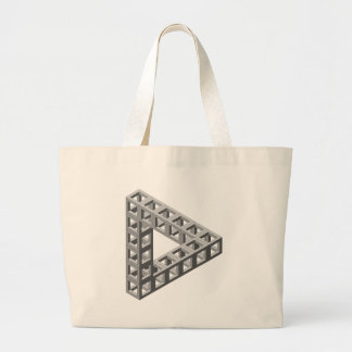 Impossible Optical Illusion Triangle Canvas Bags