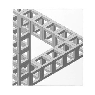 Impossible Optical Illusion Triangle Scratch Pads