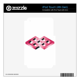 Impossible Pink Geometry iPod Touch 4G Skin