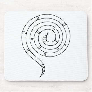 Impossible Snake Optical Illusion Mouse Pad