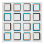 Impossible squares elegant geometric pattern poster