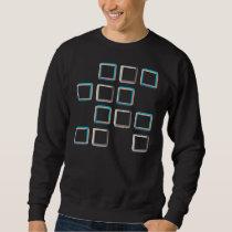 Impossible squares elegant geometric pattern sweatshirt