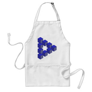Impossible Staircase of Squares Optical Illusion Adult Apron