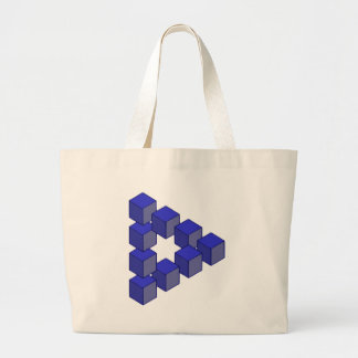 Impossible Staircase of Squares Optical Illusion Tote Bag