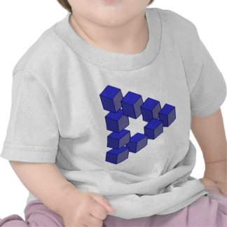 Impossible Staircase of Squares Optical Illusion Tee Shirts