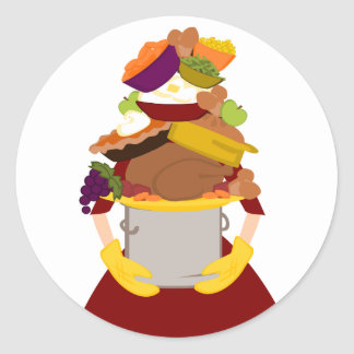 IMpossible Thanksgiving DInner Round Stickers