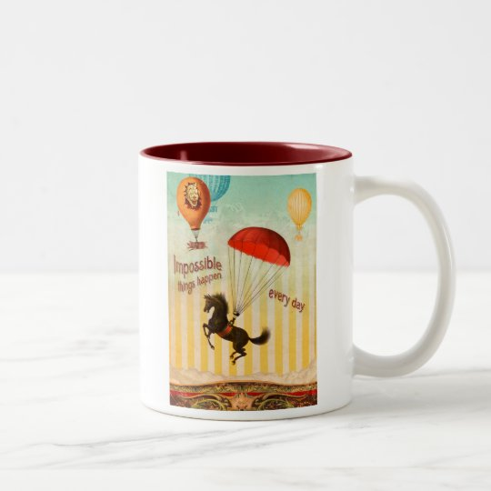 Impossible Things Happen Every Day Two-Tone Coffee Mug
