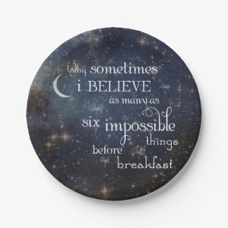Impossible Things Stars Space Paper PLate 7 Inch Paper Plate