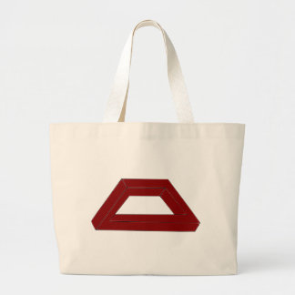 Impossible Trapezoid Optical Illusion Canvas Bags