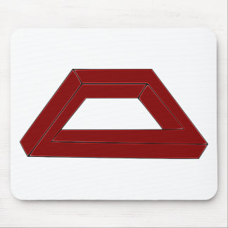 Impossible Trapezoid Optical Illusion Mouse Pad