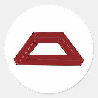 Impossible Trapezoid Optical Illusion Round Sticker