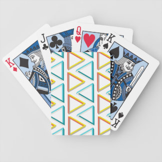 Impossible triangles geeky pattern bicycle playing cards