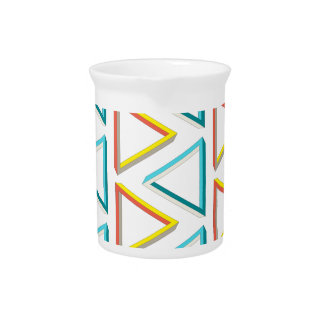 Impossible triangles geeky pattern pitcher