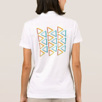 Impossible triangles geeky pattern polo shirt