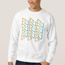 Impossible triangles geeky pattern sweatshirt