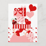 Impossible Valentine Stack Holiday Postcard