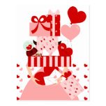 Impossible Valentine Stack Postcard