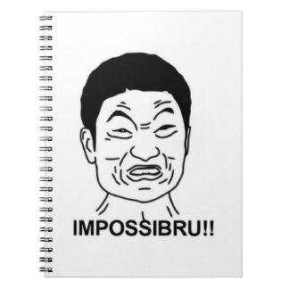 ¡Impossibru!! Cara cómica Libro De Apuntes