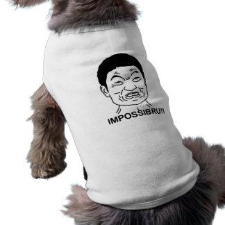 ¡Impossibru!! Cara cómica Playera Sin Mangas Para Perro