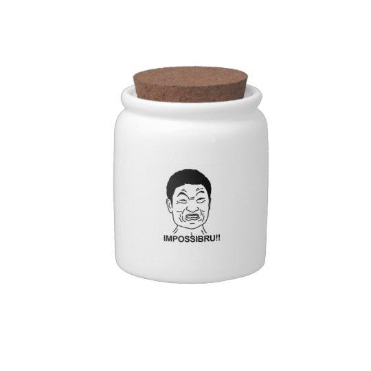 Impossibru!! Comic Face Candy Jars