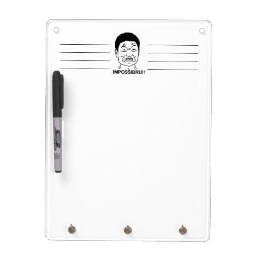 Impossibru!! Comic Face Dry-Erase Whiteboard