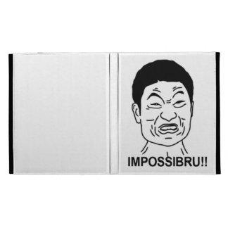 Impossibru!! Comic Face iPad Folio Case