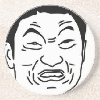 Impossibru!! Comic Face Sandstone Coaster