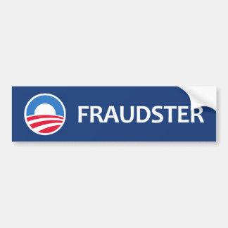 Impostor Obama Pegatina De Parachoque
