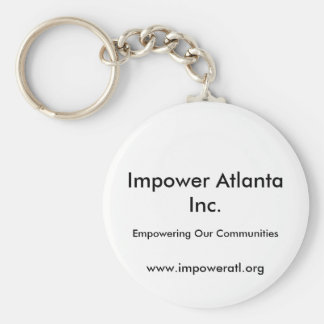 Impower Atlanta Inc., www.impoweratl.org, Empow... Basic Round Button Keychain