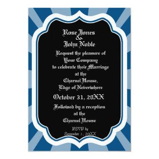 """Impregne el ébano VII (azul) que casa la Invitación 5"""" X 7"""""""