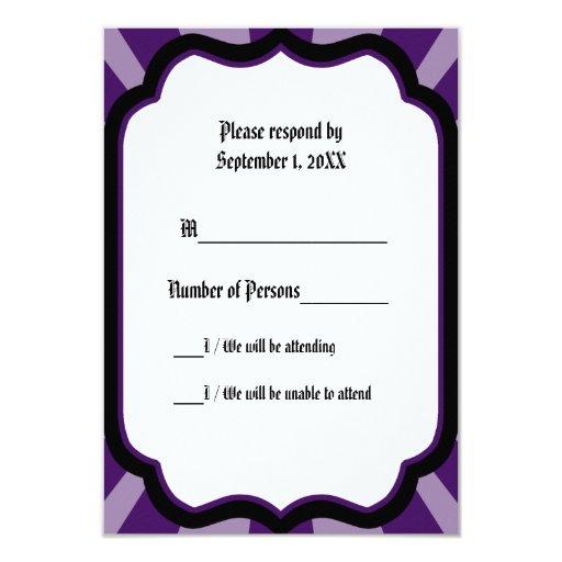Impregne la tarjeta de la marfil VII (añil) RSVP Invitación 8,9 X 12,7 Cm