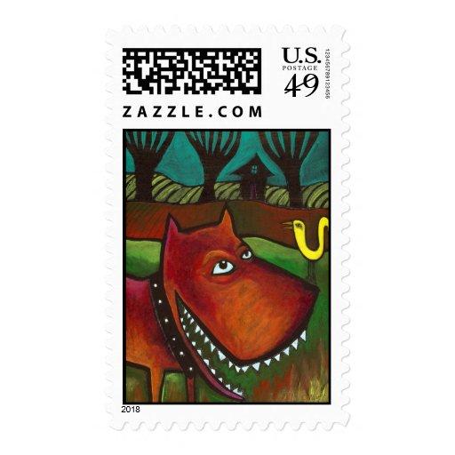 Impresión #066 del perro de yarda sellos