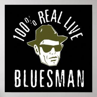 Impresión 100% del Bluesman Póster