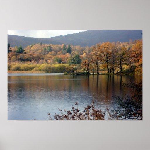 Impresión 1042a1 de la foto del distrito del lago póster