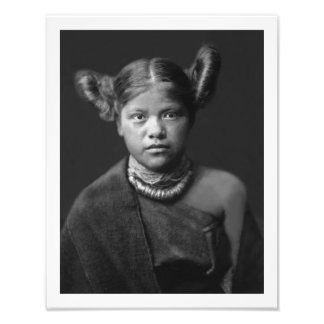impresión 11 x 14 del chica del Hopi Cojinete