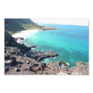 """Impresión 12 x 8"""" de la foto de la playa de Hawaii Cojinete"""